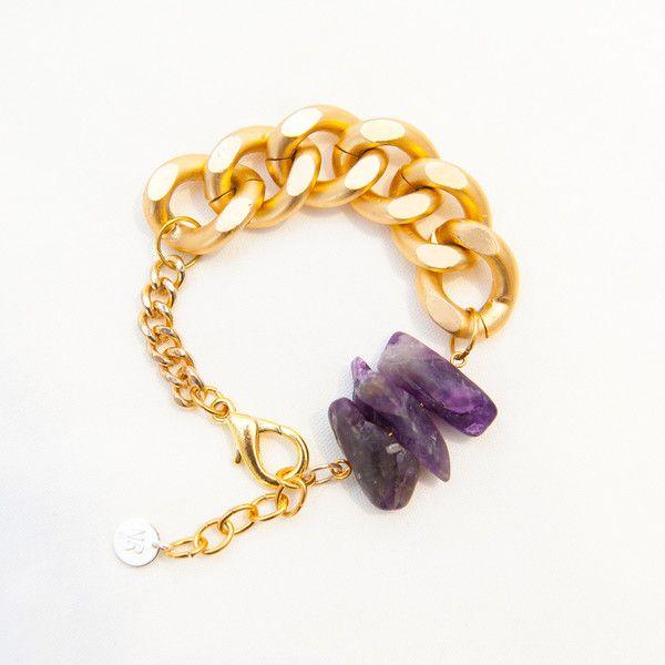 AURA Amethyst Bracelet By Novella Ria