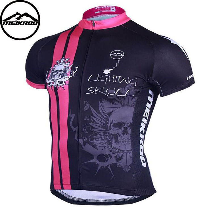 Meikroo Lighting Skull maillot Cycling Jersey/mtb bike clothing/Men bicycle clothes/Ropa De Ciclismo cycling wear Clothing #Affiliate