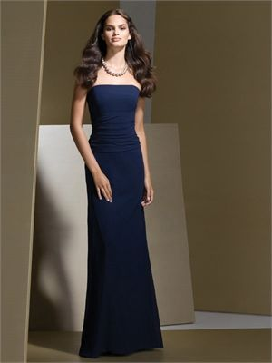 pretty sure you can change the colour of these. A-line Strapless   Navy Bridesmaid Dress BD0146
