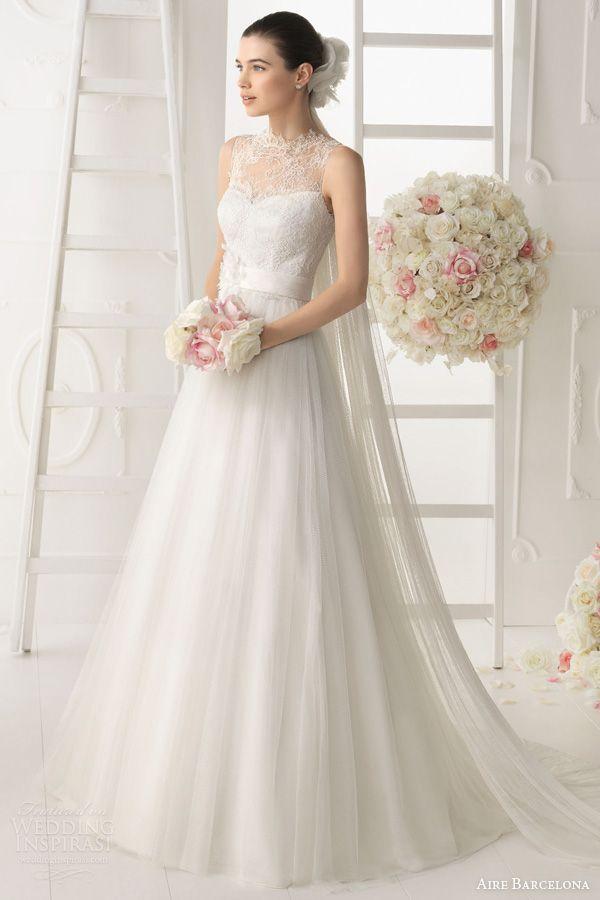 aire barcelona wedding dresses 2014