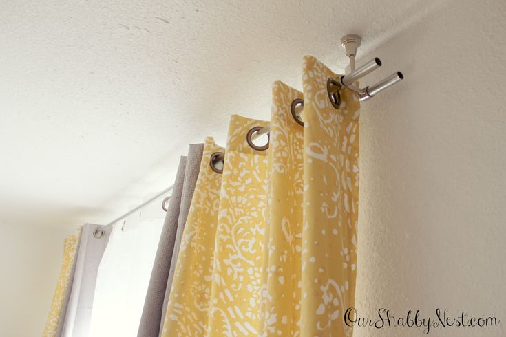 Best 20 Ceiling Mount Curtain Rods Ideas On Pinterest