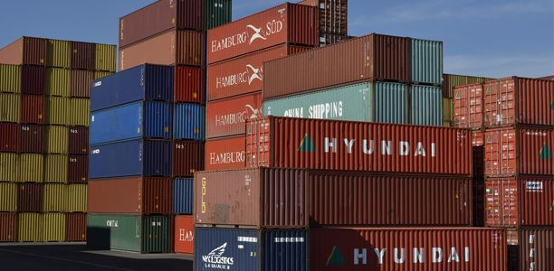Different Sized Shipping Containers