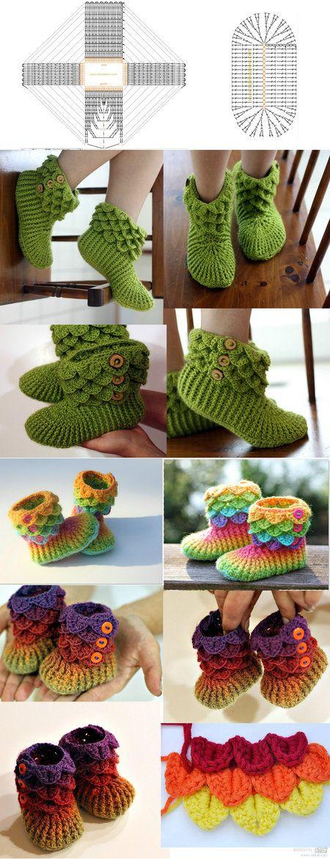 Crotchet Boots Pattern