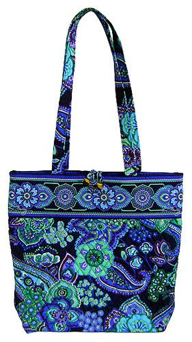 Vera Bradley Blue Rhapsody Book Tote Handbag Bag Purse Gift New