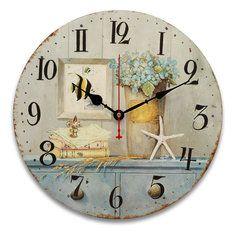 #Banggood 34cm старинные настенные часы архаику кухни в стиле ретро потертый шик домашнего декора кафе (1044963) #SuperDeals