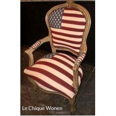 Barok  fauteuil amerikaanse vlag
