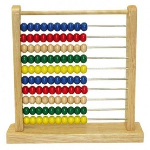An abacus is a really good way to learn the visualisation of mathematical concepts such as majority, minority, statistics, multiplication, addition and subtraction.