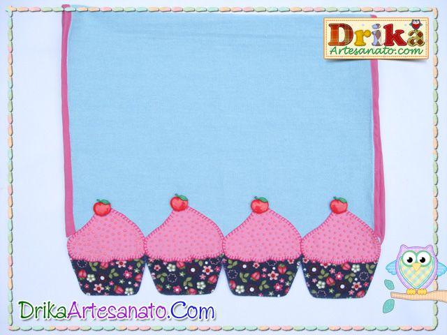 Patchwork moldes cupcake granulado patch aplique | Drika Artesanato - O seu Blog de Artesanato.