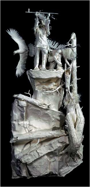 Where Eagles Pray | Eckman Fine Art:  Patty and Allen Eckman create highly detailed works in their hand made acid free cast paper sculptures.