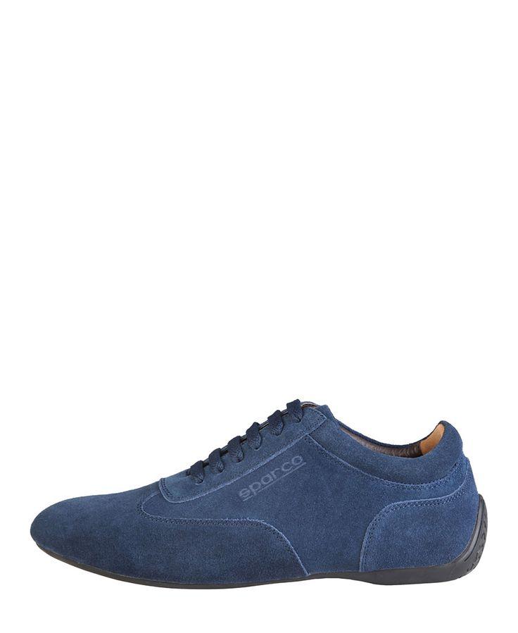 Scarpe sparco - sneakers bassa allacciata con tomaia di camoscio - fodera in pelle e materiale sintetico - sottopiede am - Sneaker uomo imola Blu