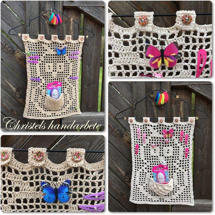 Virkade ugglehänge till praktisk förvaring, Crochet owl pendant