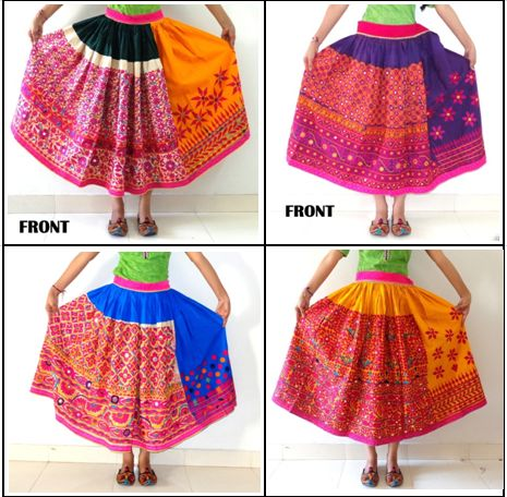 Vintage Rabari Embroidered Skirts... #vinatge#rabari#skirt #Kutchi#tribal#skirt #vintageChaniya #vinatge #bohemianskirt #tribalskirt #craftnfashion #meghcraft #vintagecraft #indiancrafts #indianethnicjewelry
