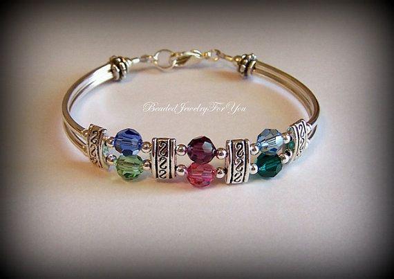 Personalized Birthstone Bracelet: Custom Jewelry, Gifts for Mothers Day, Handmade Jewelry, Mom Gift Idea, Bracelet Jewelry, Bracelet Crysta