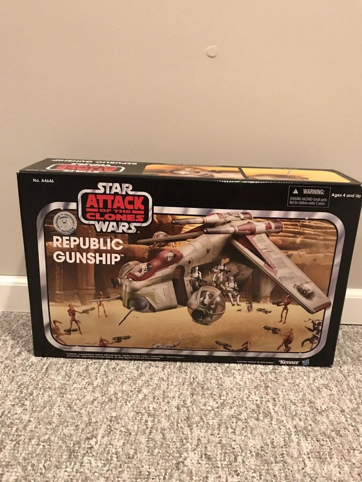 Star Wars Vintage Collection Attack Of The Clones REPUBLIC GUNSHIP MIB