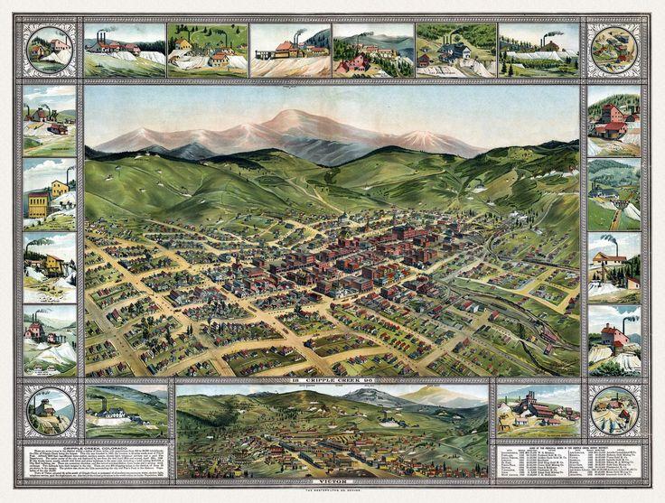 Cripple Creek Colorado. 1896. Year: 1896 City: Cripple Creek County: Teller State: Colorado Country: United States