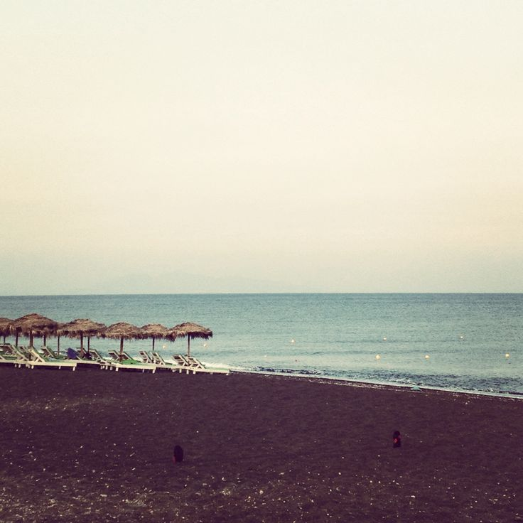Black Sand Beach. Perivolos, Santorini.