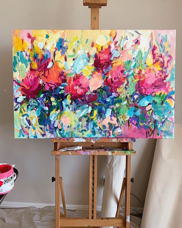 How To Make Your Acrylics Look Like Oils Amira Rahim In 2021 Colorful Abstract Art Abstract Art Painting Colorful Paintings Acrylic