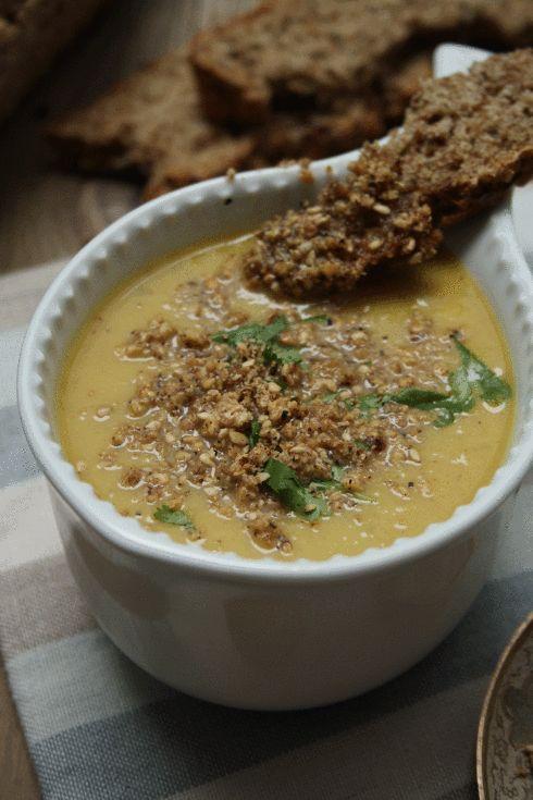 Moroccan Cauliflower Soup & Chestnut Dukkah