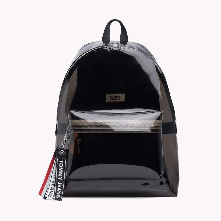 Tommy Hilfiger Transparent Logo Backpack Clear Backpack Backpacks Girly Backpacks