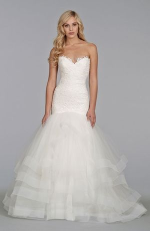 Sweetheart Mermaid Wedding Dress  with Dropped Waist in Alencon Lace. Bridal Gown Style Number:32879819