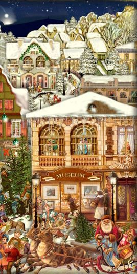 Village Christmas advent calendar ~ Germany