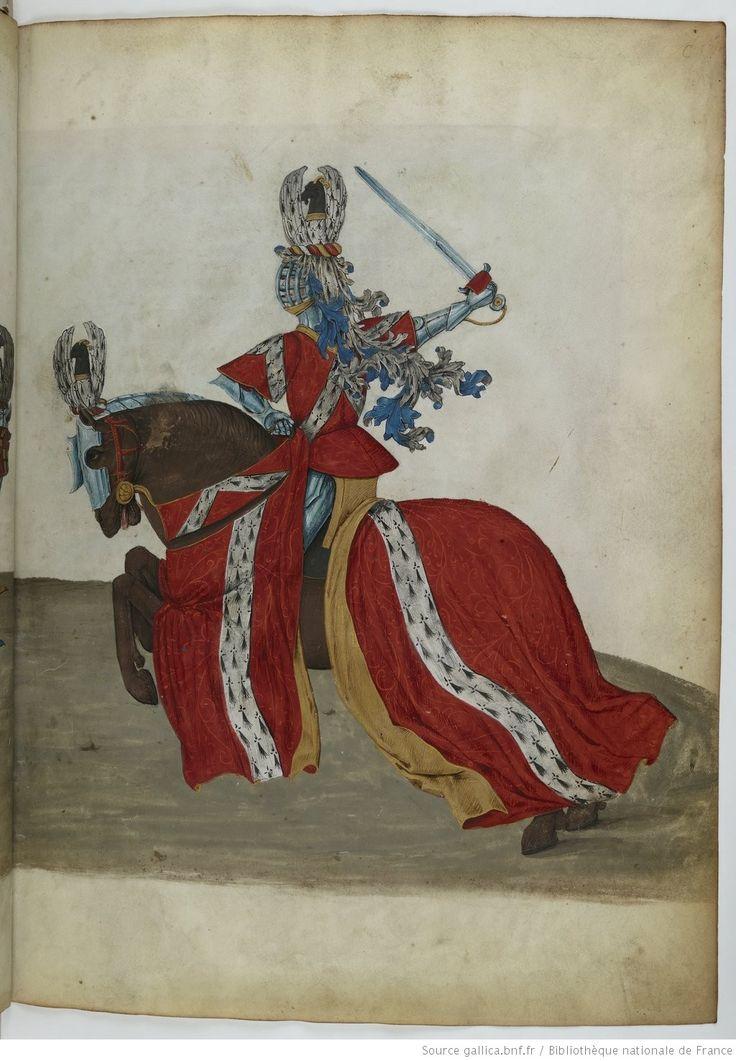 Traittié de la forme et devis comme on fait les tournoyz », par « RENE D'ANJOU    Date d'édition :  1401-1500   Français 2693   Folio Cr