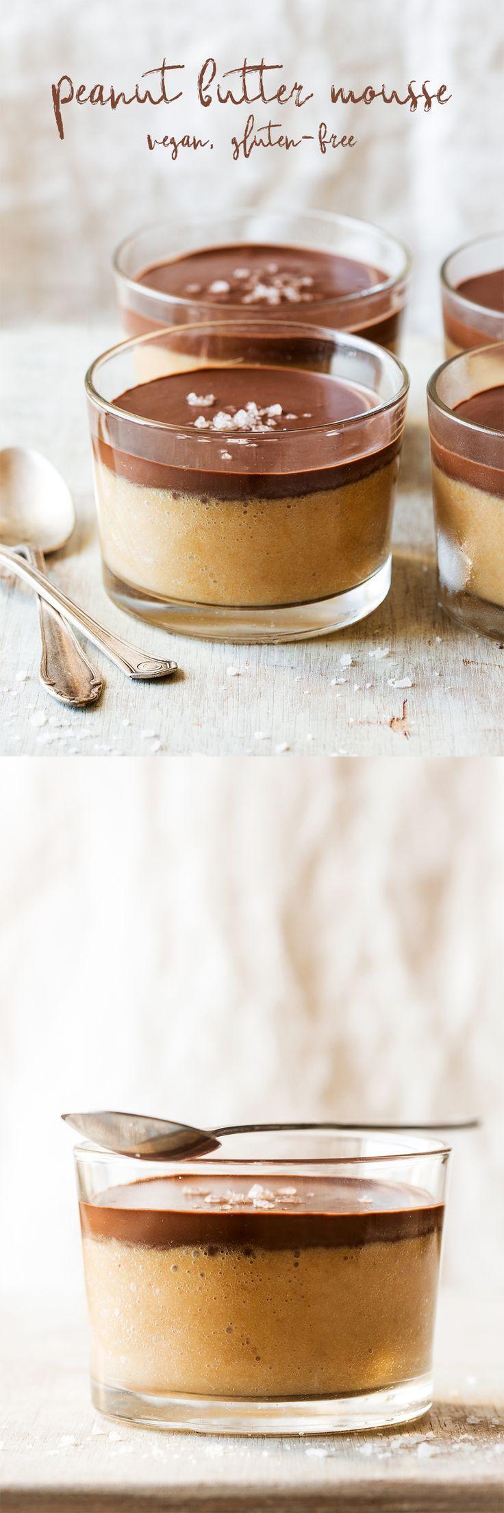 Vegan peanut butter mousse