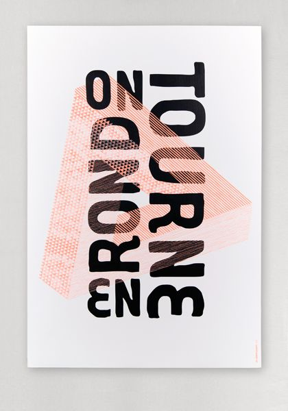 On tourne en rond - impression en tons directs - Les Graphiquants (France)