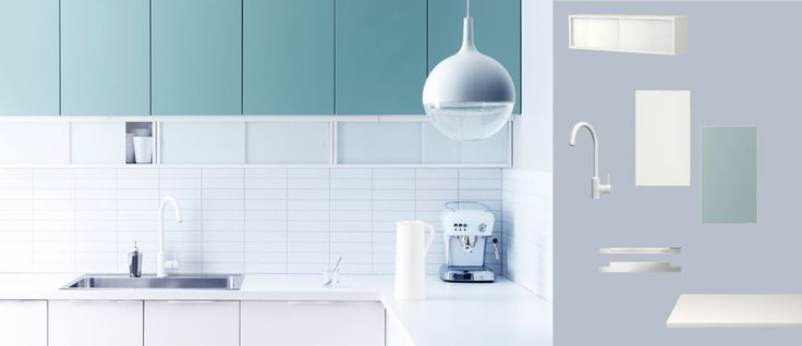 Faktum kitchen with appl d white doors drawers and rubrik - Cuisine applad ikea ...