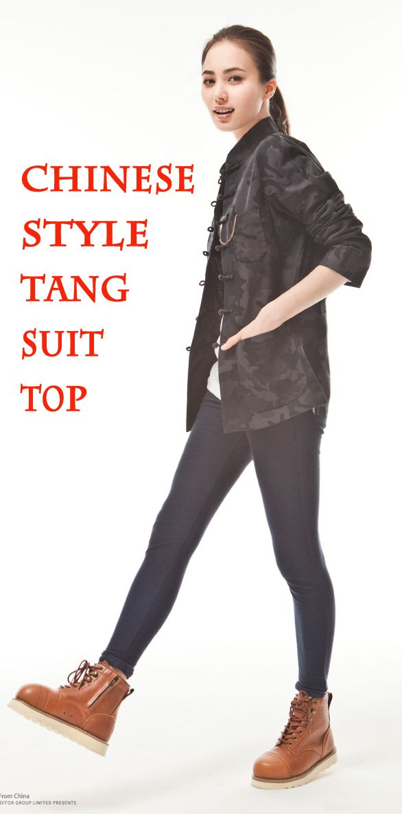 High Quality Women Traditional Chinese Jacket Style Original Tang Suit Camouflage Top Cotton National Trend Blouse Free Shipping