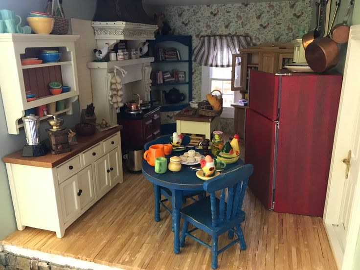 "Miniature Scene - The kitchen at ""Sigley Cove"""