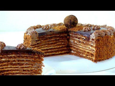 торт Спартак. Рецепт. Cake Spartacus - YouTube