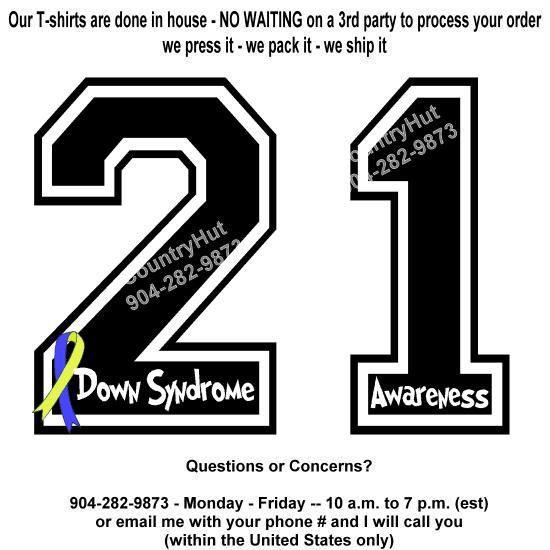T-shirt   21  DOWN SYNDROME Awareness ribbon by TeeShirtHut