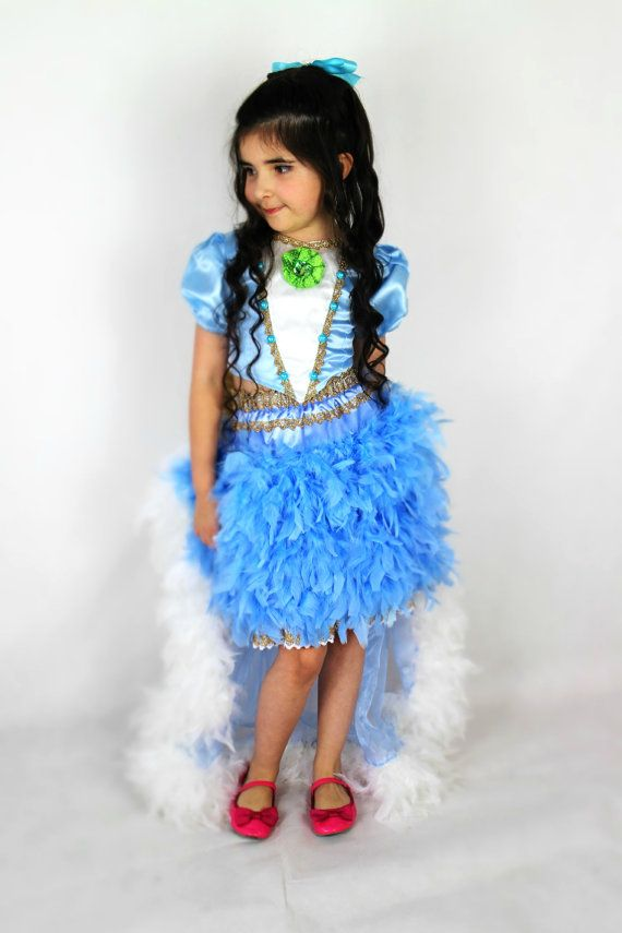 Blue Feather Princess Dress  Inspired by by FriolinaFancyDesigns, $100.00