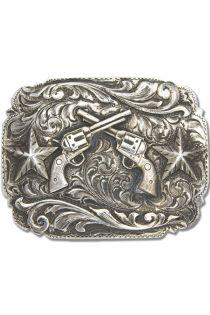 belt buckle   Comstock Heritage Pecos Crossed Pistols