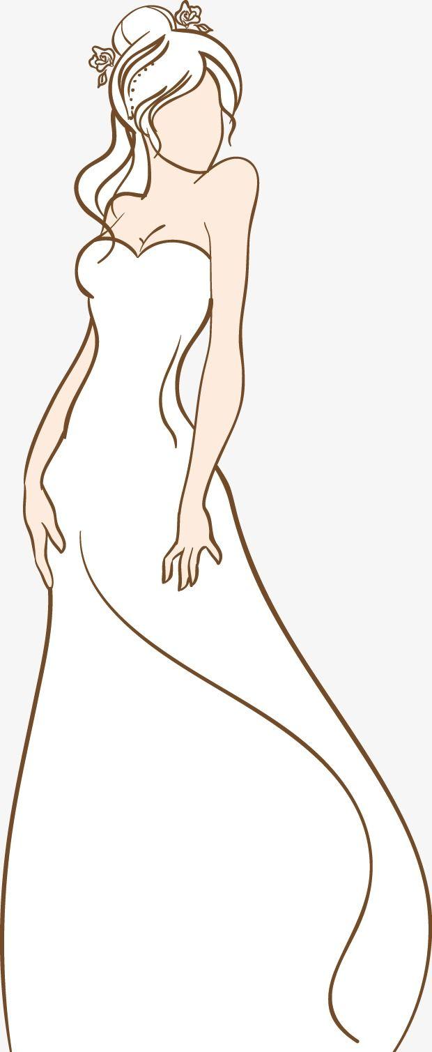 رسمت باليد العروس قوه موجهة مرسومة باليد عروس Png وملف Psd للتحميل مجانا Hand Painted Painting Clip Art