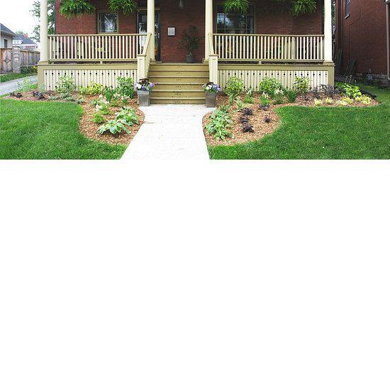 Beautiful front entrance garden