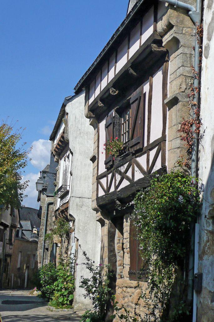 Ruelle de Saint-Goustan à Auray. Bretagne.