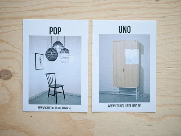 Book POP & UNO    Graphic Design Printed material for the products we launched at Stockholm Furniture Fair. February 2014.