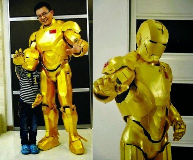 Papá chino crea un traje de Iron Man para su hijo http://www.syfyfantasy.com/2014/07/papa-chino-crea-un-traje-de-iron-man.html