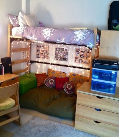 How to decorate your dorm room in a cute way. Or if you live in a small space, it works too.