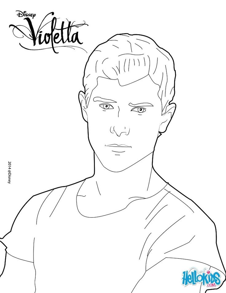 Diego From The Smash Disney Series Violetta Print This Free Coloring Page To Decorate Online With Interactive Machine Or