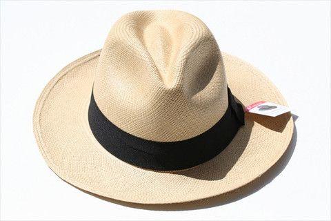 panama hat - fedora - tan