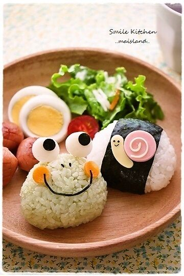 Frog and snail lunch plate