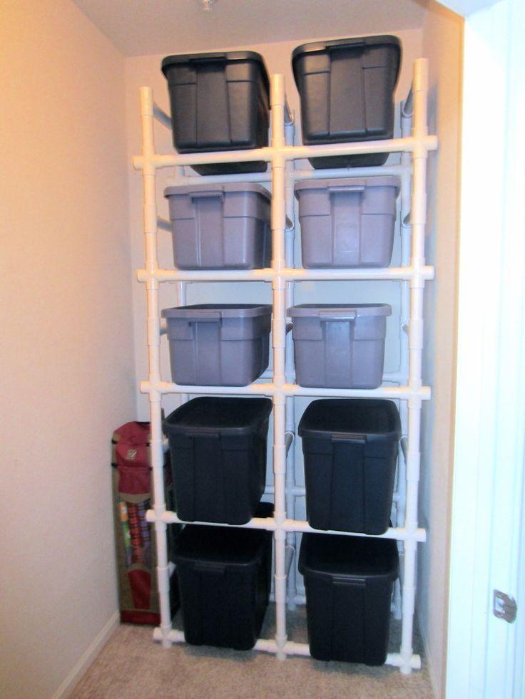 PVC Pipe Shelves for the DIY-er in all of us.