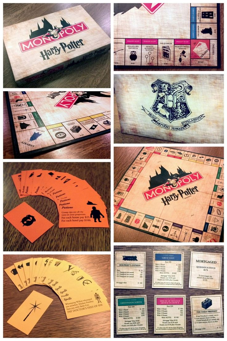 "truebluemeandyou "" DIY Amazing Harry Potter Monopoly Game"