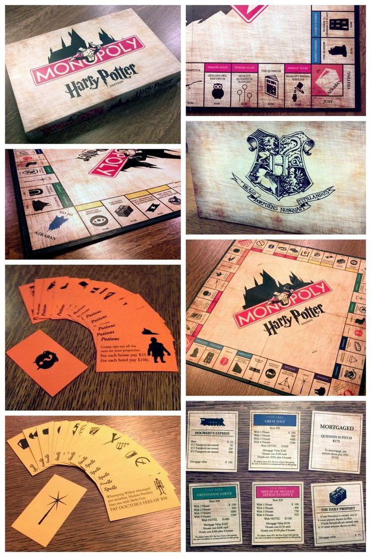"truebluemeandyou "" DIY Amazing Harry Potter Monopoly Game"