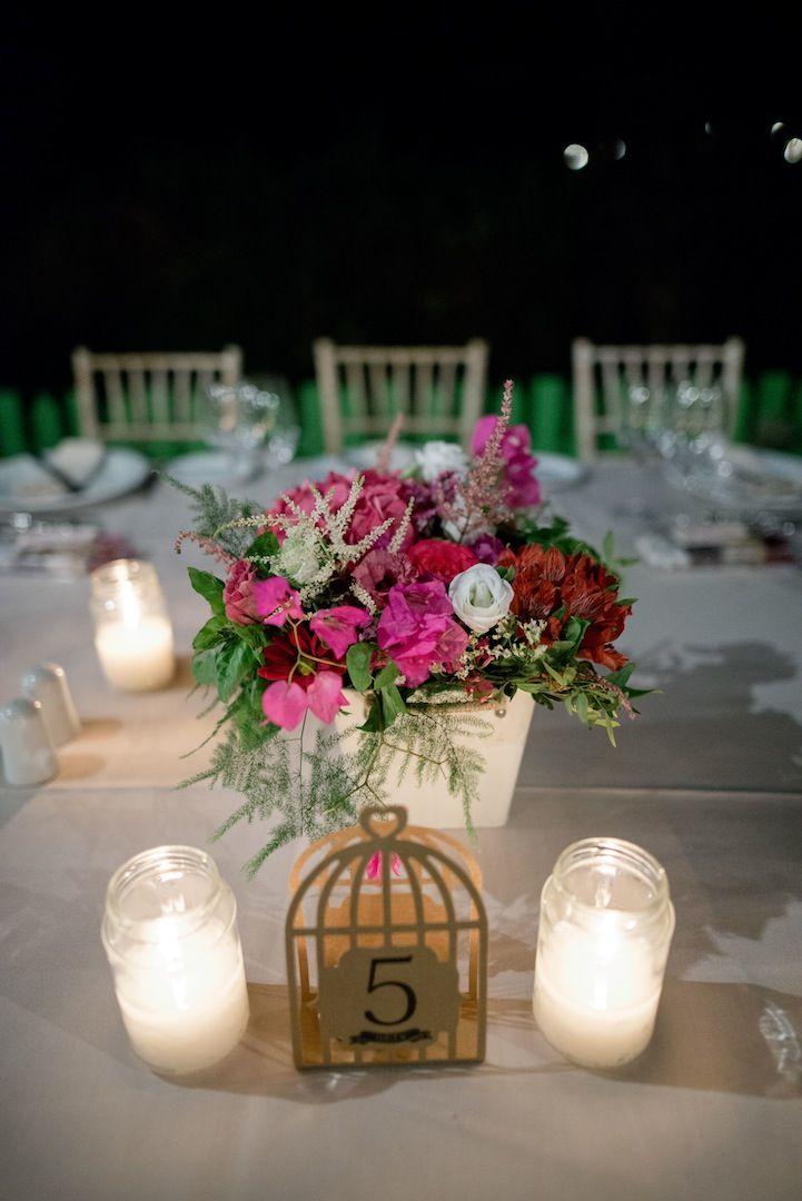 Bougainvillea Wedding   lafete / Fuchsia / table / decoration