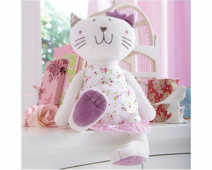 Brand new in bag Izziwotnot Fleur Plush Toy Cat in Time to Play Design