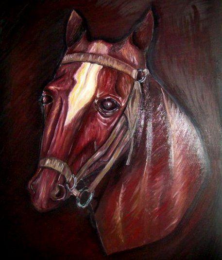 Un caballo que hice hace año, en óleo